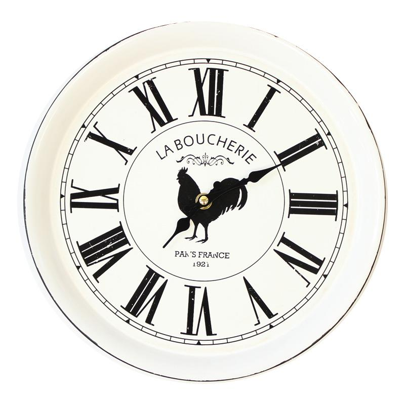 White Rooster Clock
