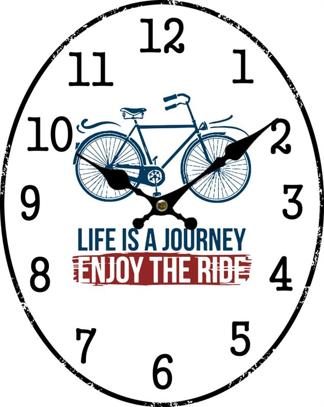 Just Ride Bicycle Clock