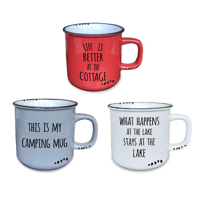 Cottage Mug 3 Assorted 10oz