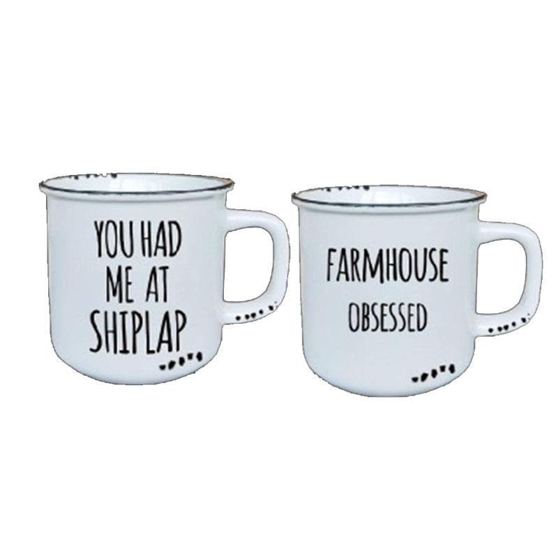 Farmhouse Mug 2 Assorted 10oz