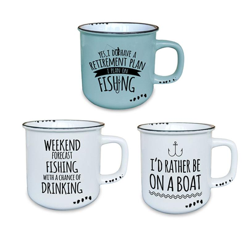 Fishing Mug 3 Assorted 10oz