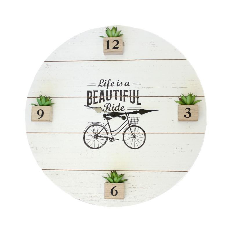 Bicycle and Plant Clock