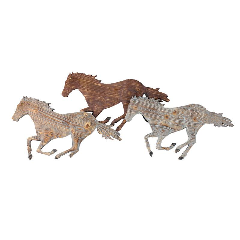 Running Horses Wall Plaque