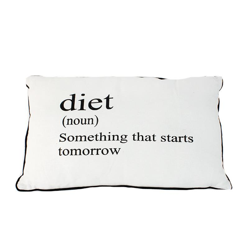 Diet Definition Pillow