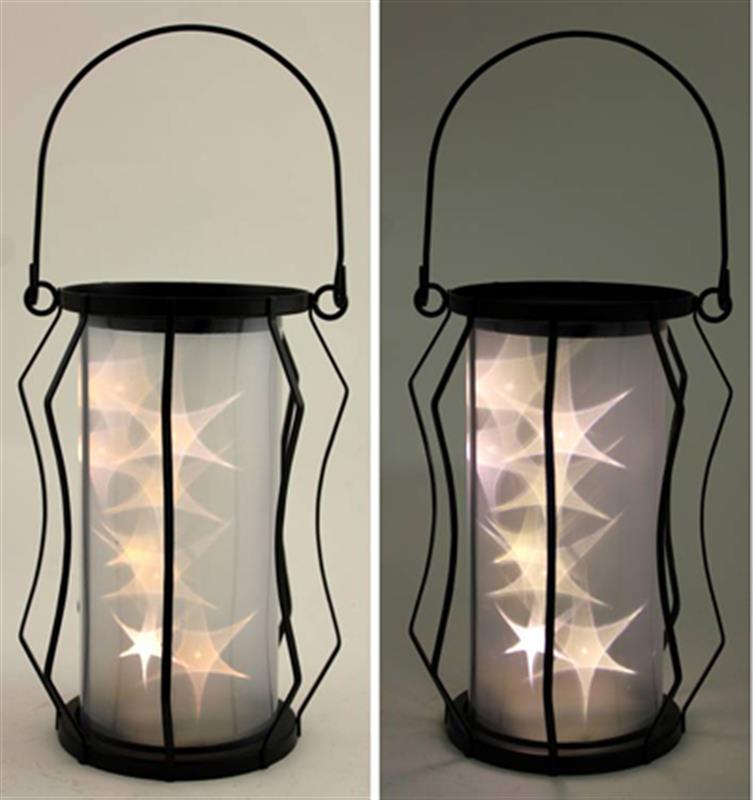 LED Zigzag Wire Lantern
