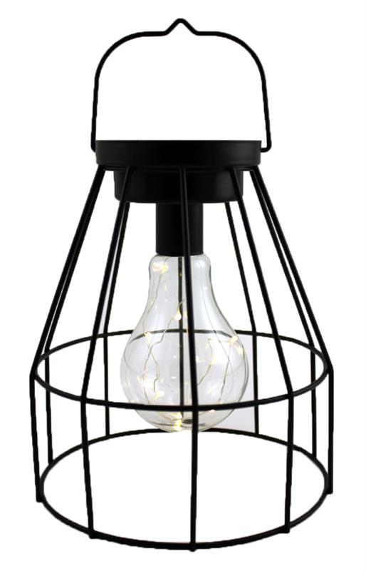 LED Hanging Lightbulb Lantern