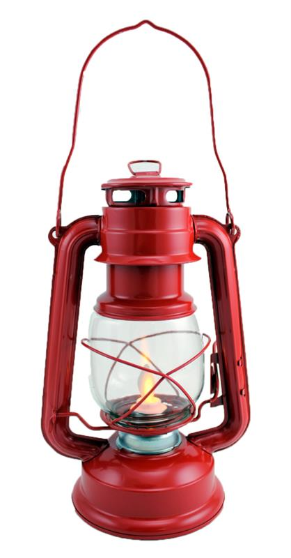 Red Lantern with moving flame