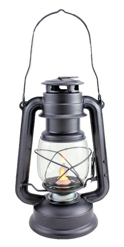 Silver Lantern w/ moving flame