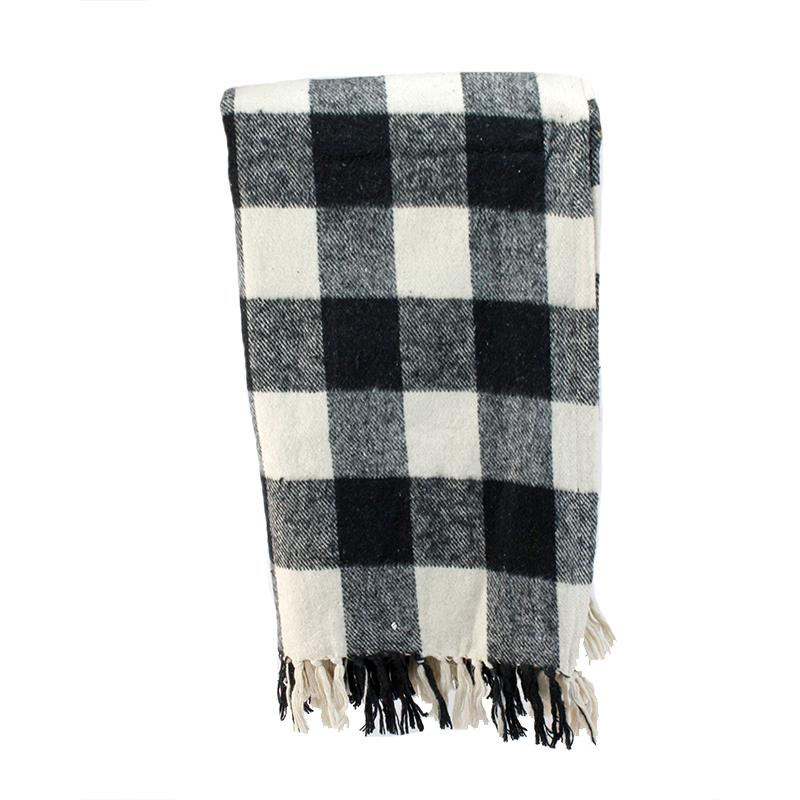 Throw Black Buffalo Plaid