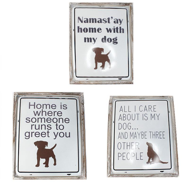 3 Assorted Dog Wall Plaques