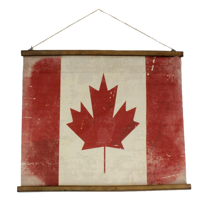 Canada Flag Scroll Wall Decor