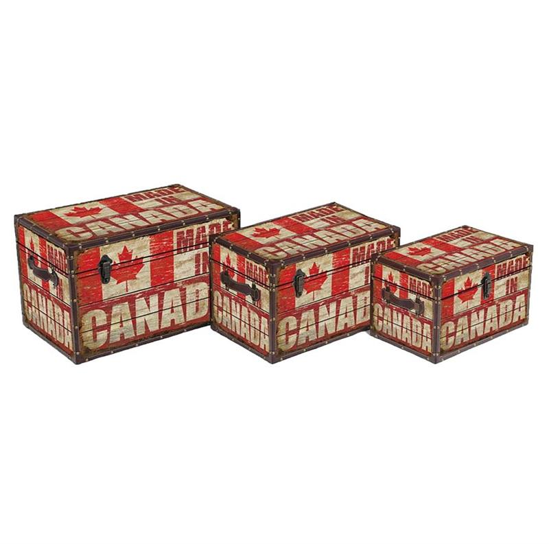 Set of 3 Canada Trunks