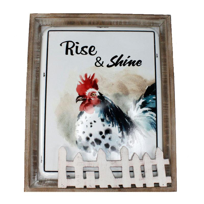 Rise & Shine Wall Plaque