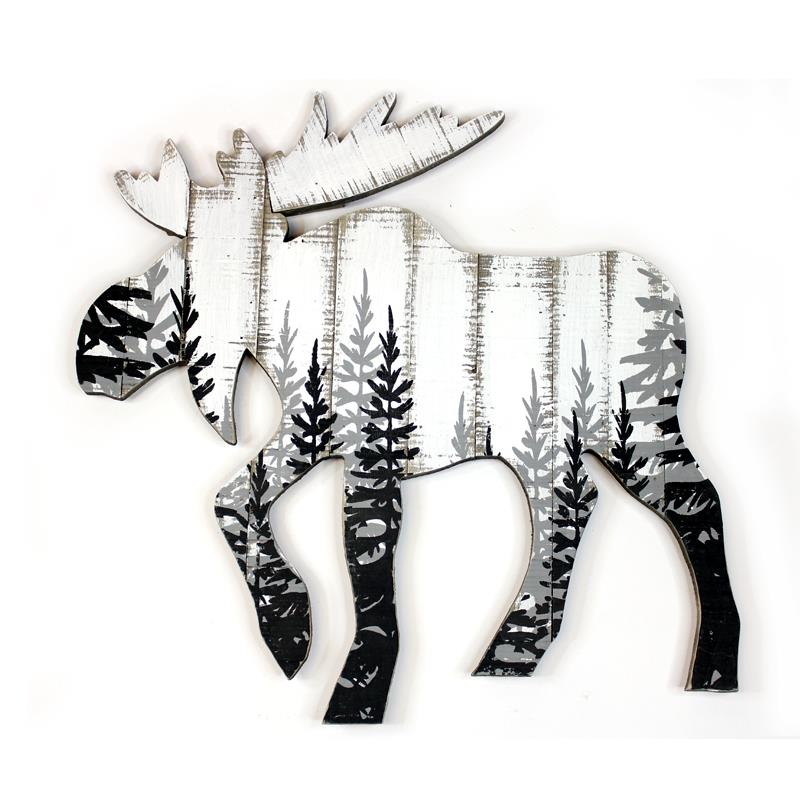 WD MOOSE CUT OUT WALL PLAQUE
