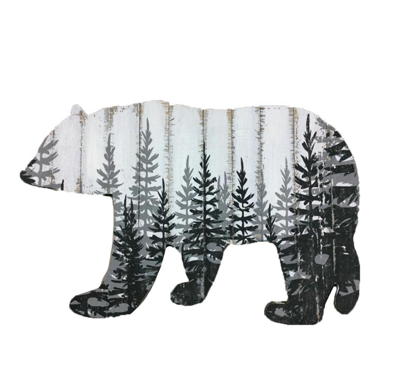 WD BEAR CUT OUT WALL PLAQUE