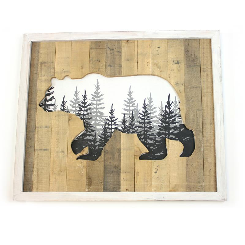 WD BEAR WALL PLAQUE