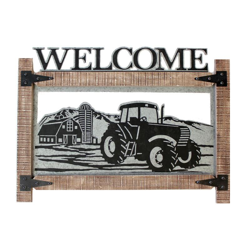 Welcome Tractor Wall Art