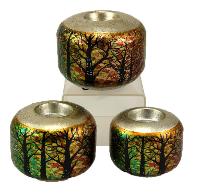 Tree Candle Holder Set