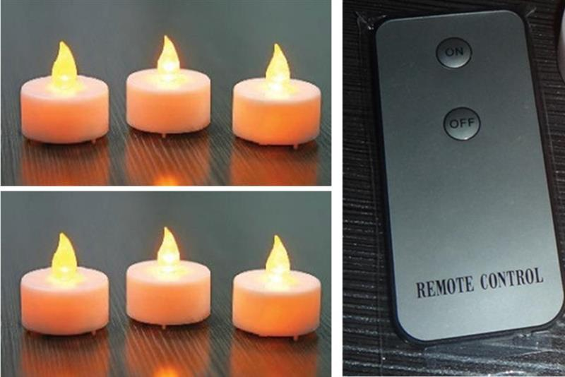 LED T-Lite Remote Candles 6