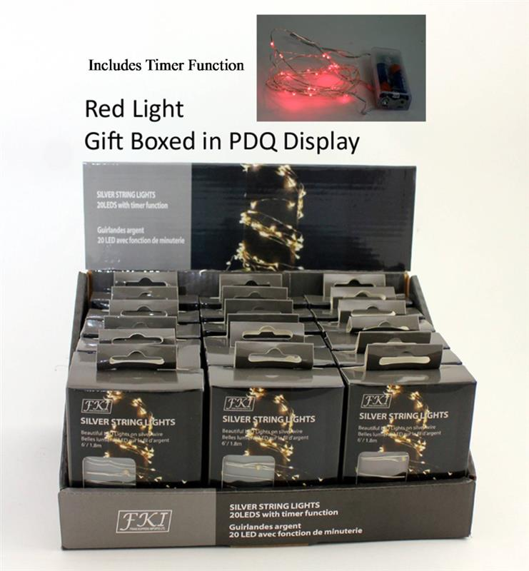 LED 20 Mini Lights - RED