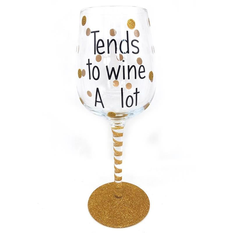 Tends to Wine Glass*