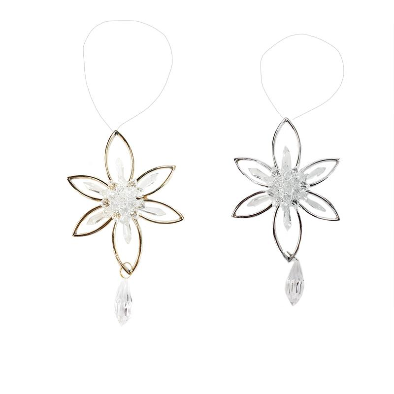2 Assorted Flower Ornament