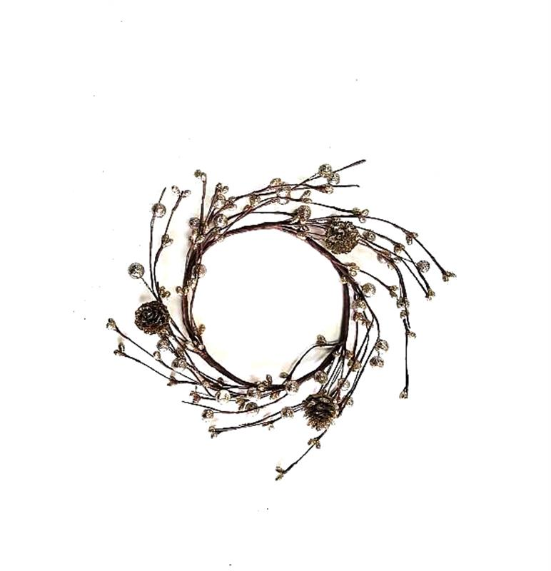 Glitter Twig Candle Ring