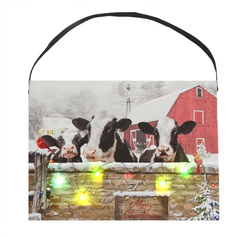Cow LED Wall Art