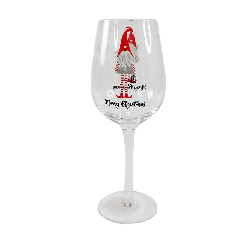 Christmas Gnome Wine Glass