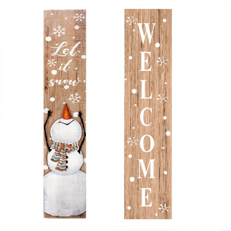 Porch Sign Let It Snow/Welcome