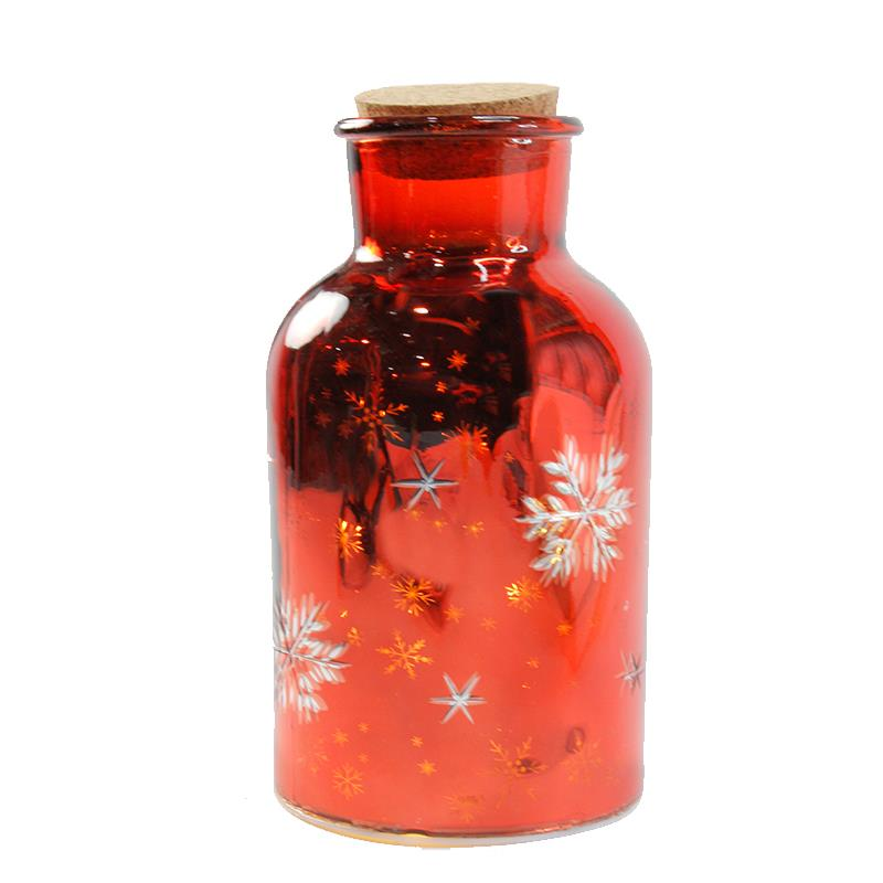 LED Red Christmas Jar