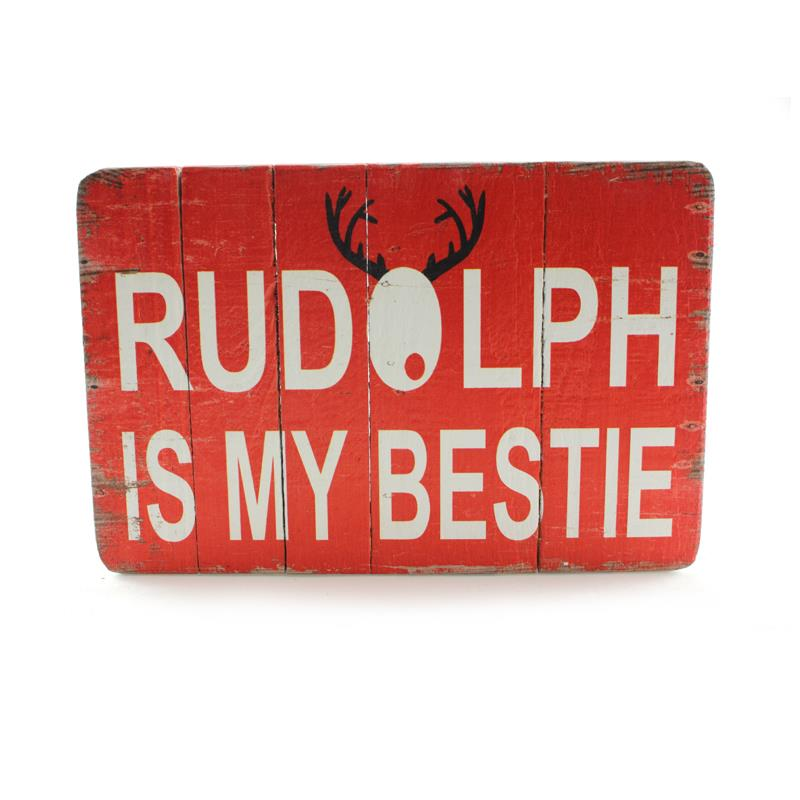 Rudolph Bestie Box Sign