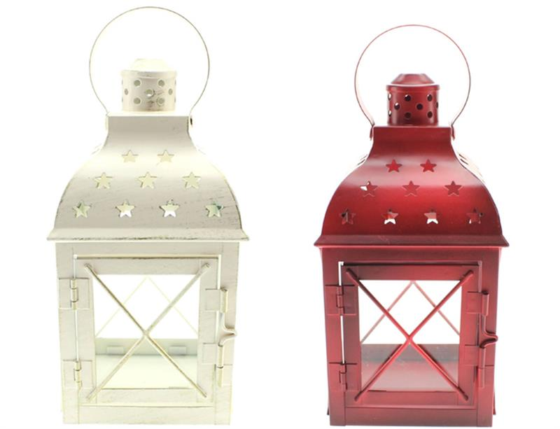 Red & White Lantern 2 Assorted
