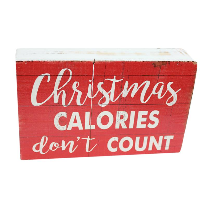 Festive Box Sign Calories