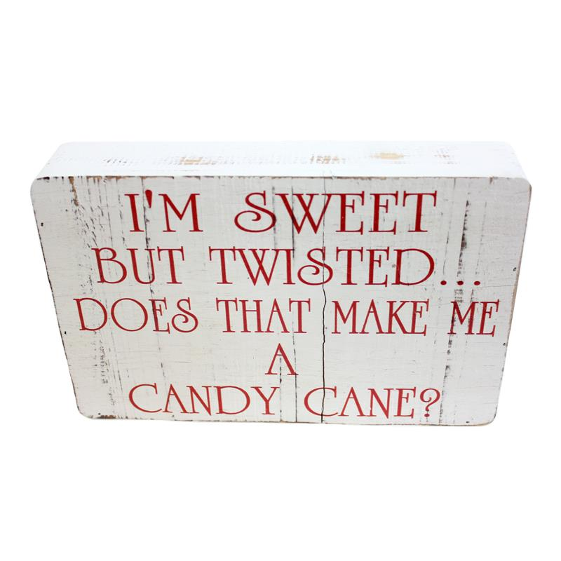 Box Plaque Cand Cane