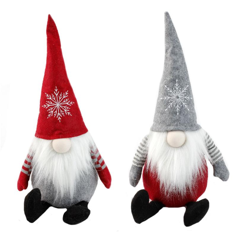 2 Assorted Snowflake Gnome