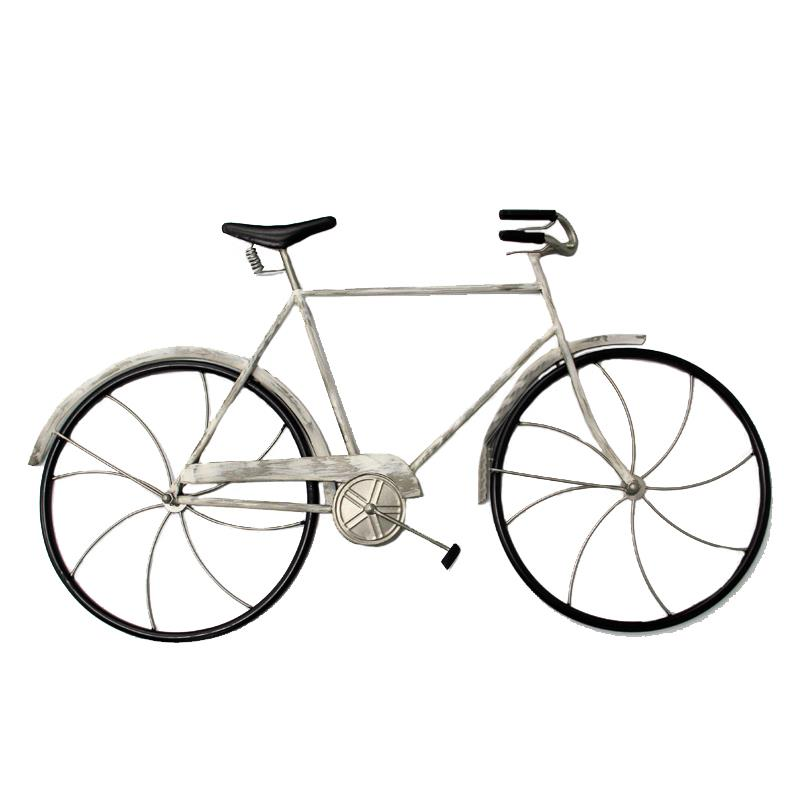Bicycle Wall Decor White
