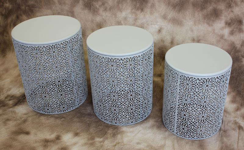 Set of 3 Stone Tables