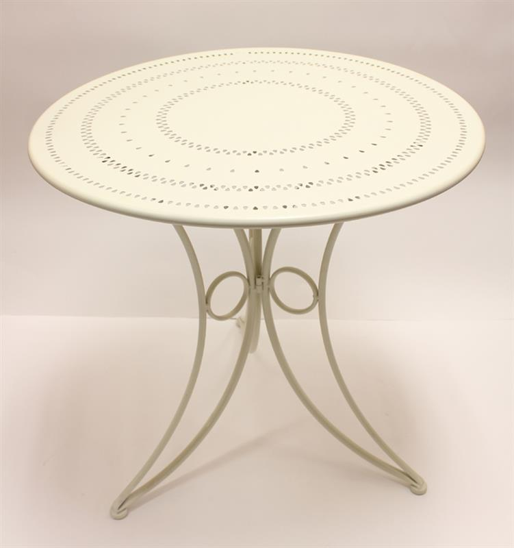 White Round Patio Table