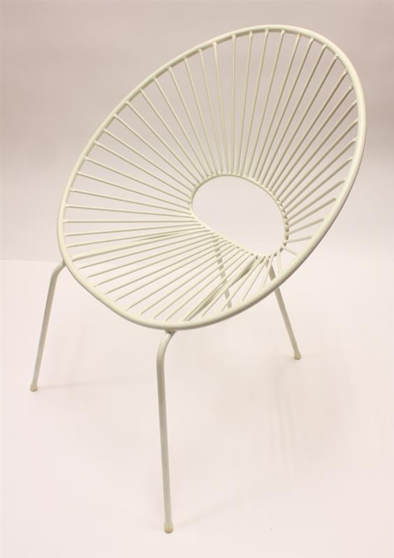 White Patio Bucket Chair