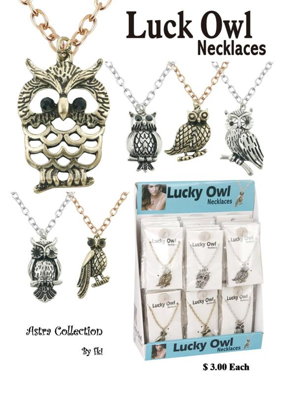 Lucky Owl Necklace Set